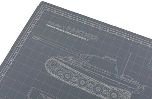 PANTHER TANK MODEL BUILDER'S CUTTING MAT 18x24 - Tankraft
