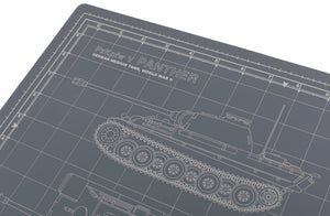 PANTHER TANK MODEL BUILDER'S CUTTING MAT 12x18 - Tankraft
