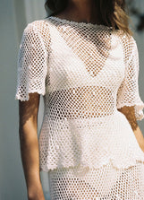 Petunia Crochet Swing Top