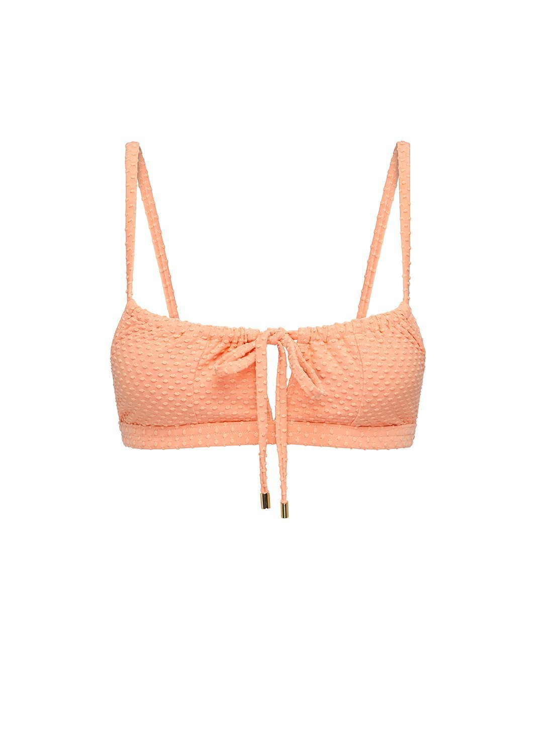 Apricot Gathered Bralette
