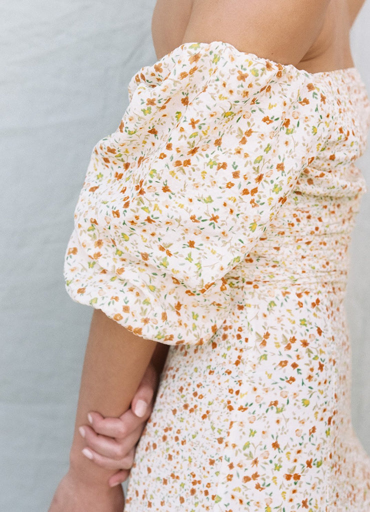Wildflower Spliced Midi Dress