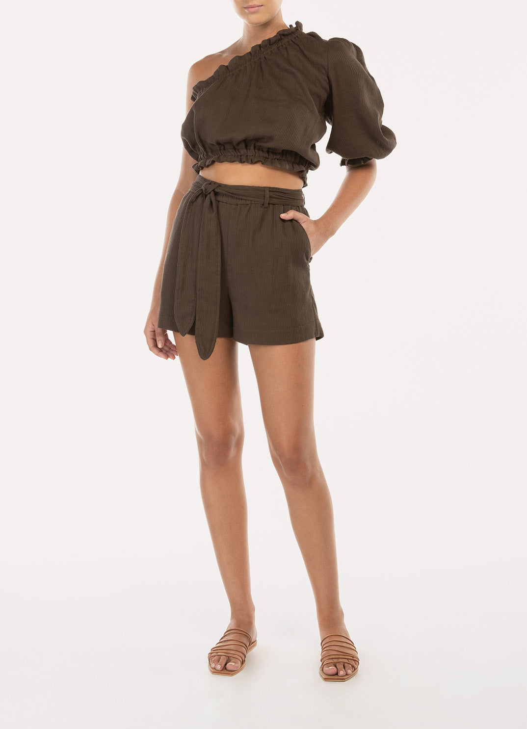 Chocolate Belted Short
