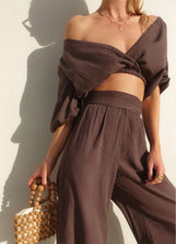 Chocolate Vacation Blouse