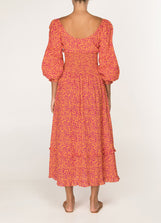 Garden Party Gathered Midi Dress
