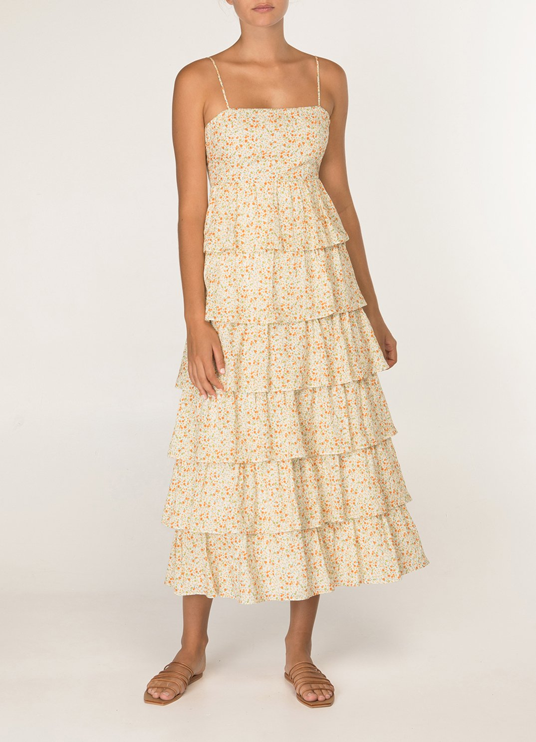 Wildflower Tiered Midi Dress
