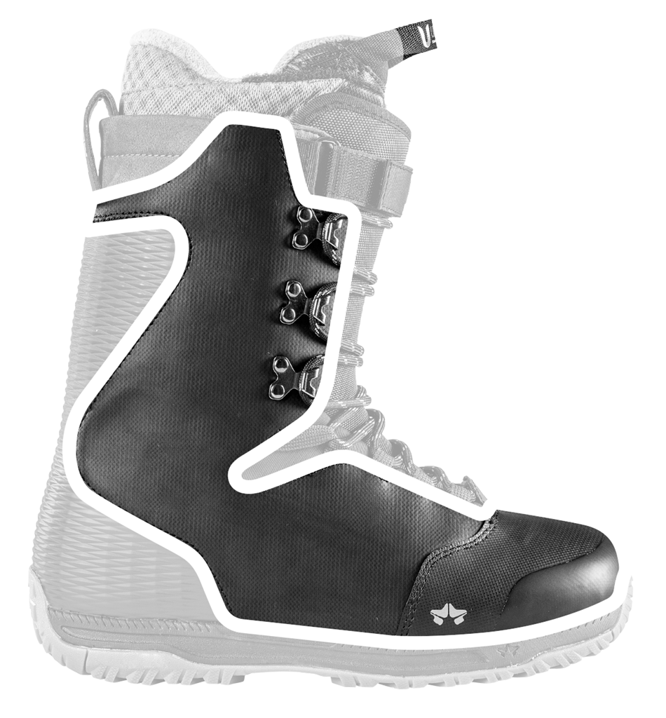 durafit shell durable snowboard boot technology