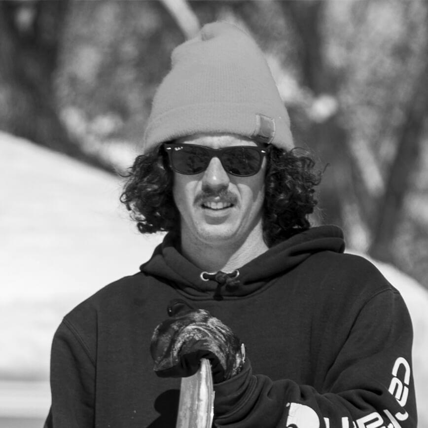 Jeff Hopkins Snowboarder for the Rome Snowboards Am team