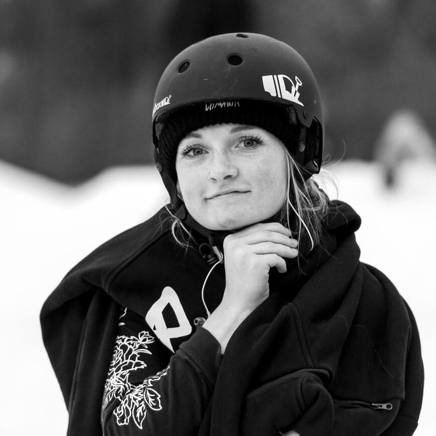 Kayli Hendricks Snowboarder for the Rome Snowboards Am team