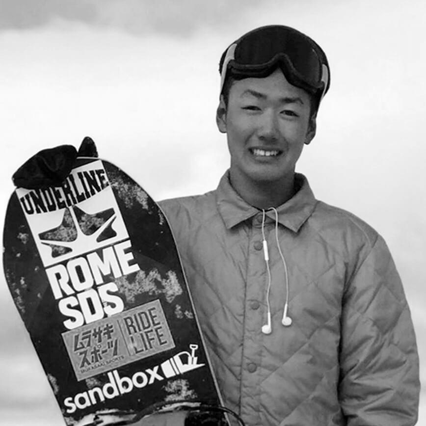 Yuri Okubo Snowboarder for the Rome Snowboards Am team