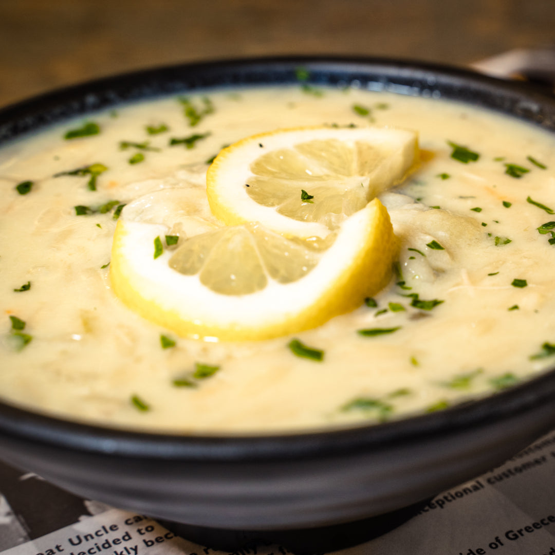 Kotosoupa Avgolemono - Chicken Soup with Egg and Lemon