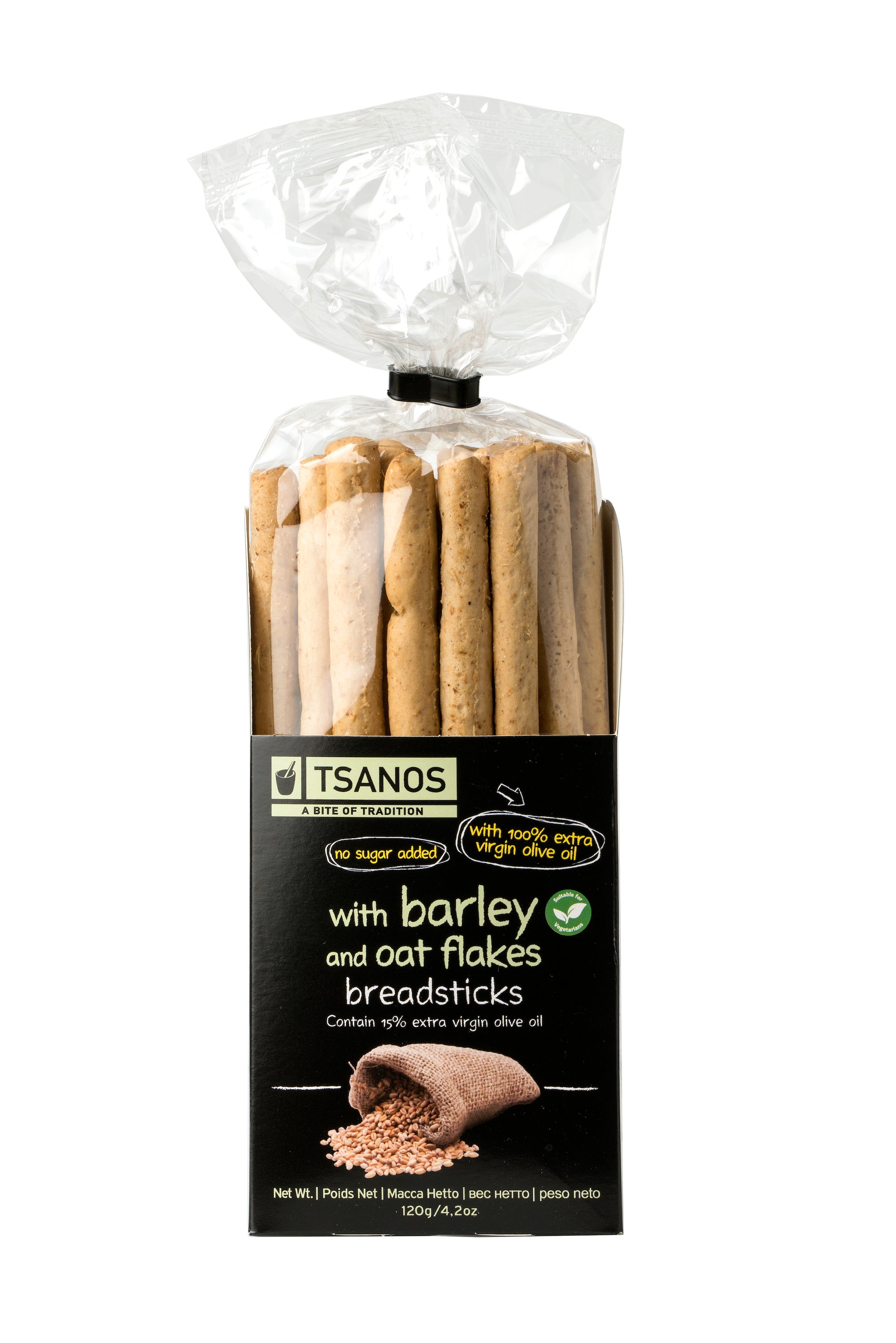 Tsanos Breadsticks with Barley and Oat Flakes