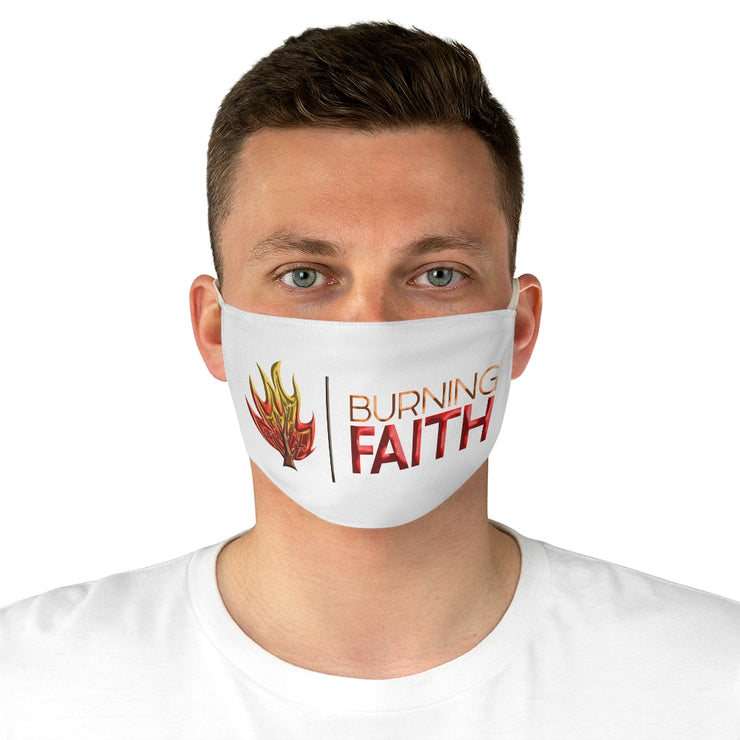 Burning Faith Blue Flame Face Mask