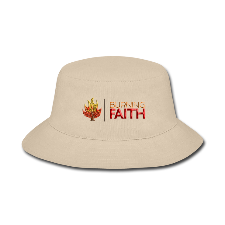 Burning Faith Orange Flame Bucket Hat