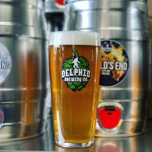 Delphic 20oz Billy - Branded Pint Glass