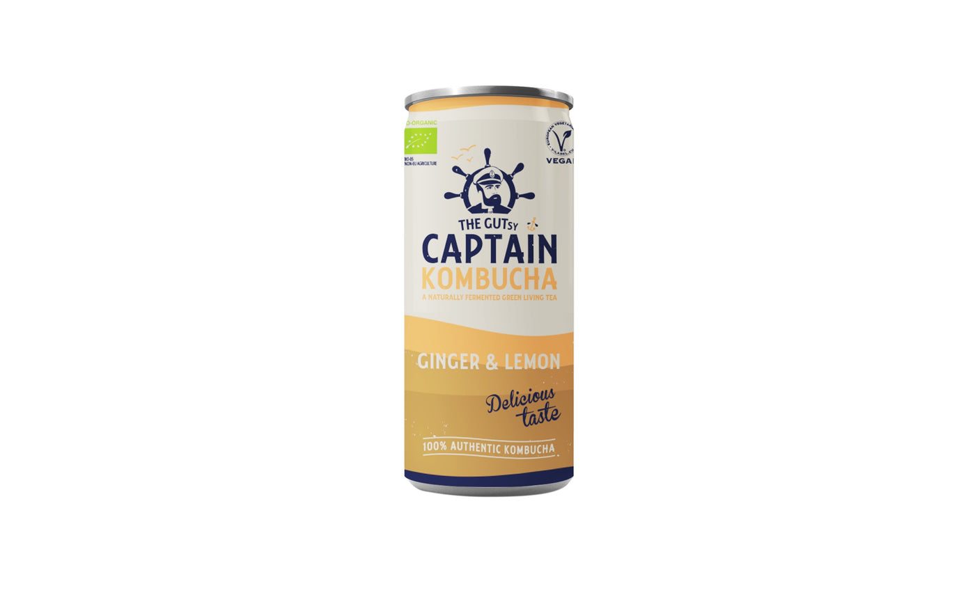 The Gutsy Captain Kombucha <BR>Ginger Lemon