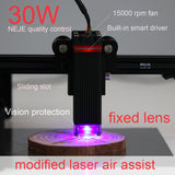 30W laser module NEJE master 2 cutting module upgrade kit, fixed focal length sliding focus-visual protection