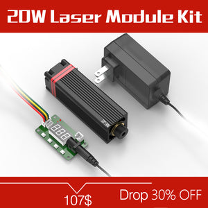 NEJE 20W 450nm Laser Module Head Kits With TTL pwm Tester for DIY Metal / Wood Router / Paper Cutter