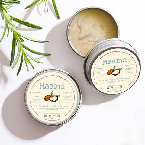 Travel Size: 100% Natural Organic Fair Trade Whipped Shea Body Butter (30g)