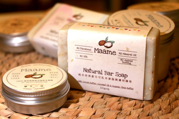 Organic Facial and Bath Bar Soap: Oats, Coconut Oil and Organic Shea Butter (100g)