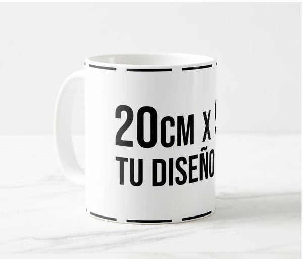 Mug Blanco 11 Onzas + Estampado Sublimación Full Color Completo