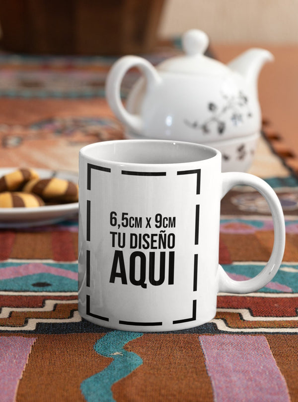 Mug Blanco 11 Onzas + Estampado Sublimación Full Color 1 Lado
