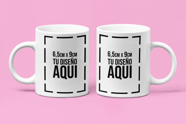 Mug Blanco 11 Onzas + Estampado Sublimación Full Color 2 Lados