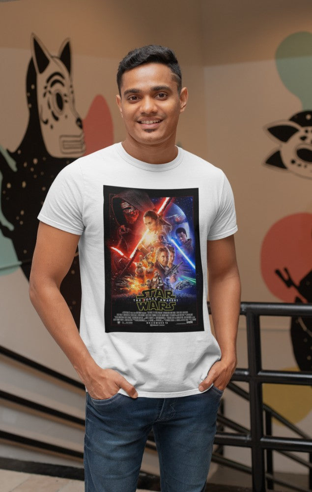 Camiseta Hombre - Star Wars The Forces Awakens - Original Movie Poster
