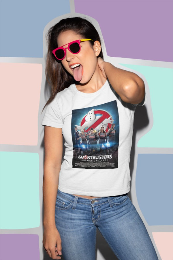 Camiseta Mujer - Ghostbusters Answer the Call - Original Movie Poster