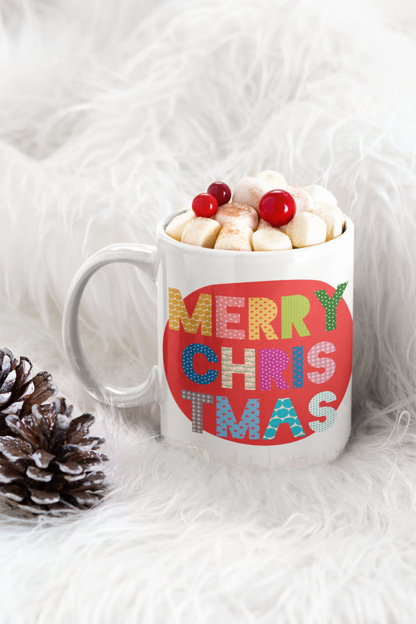 Mug Blanco 11 Onzas - Merry Christmas