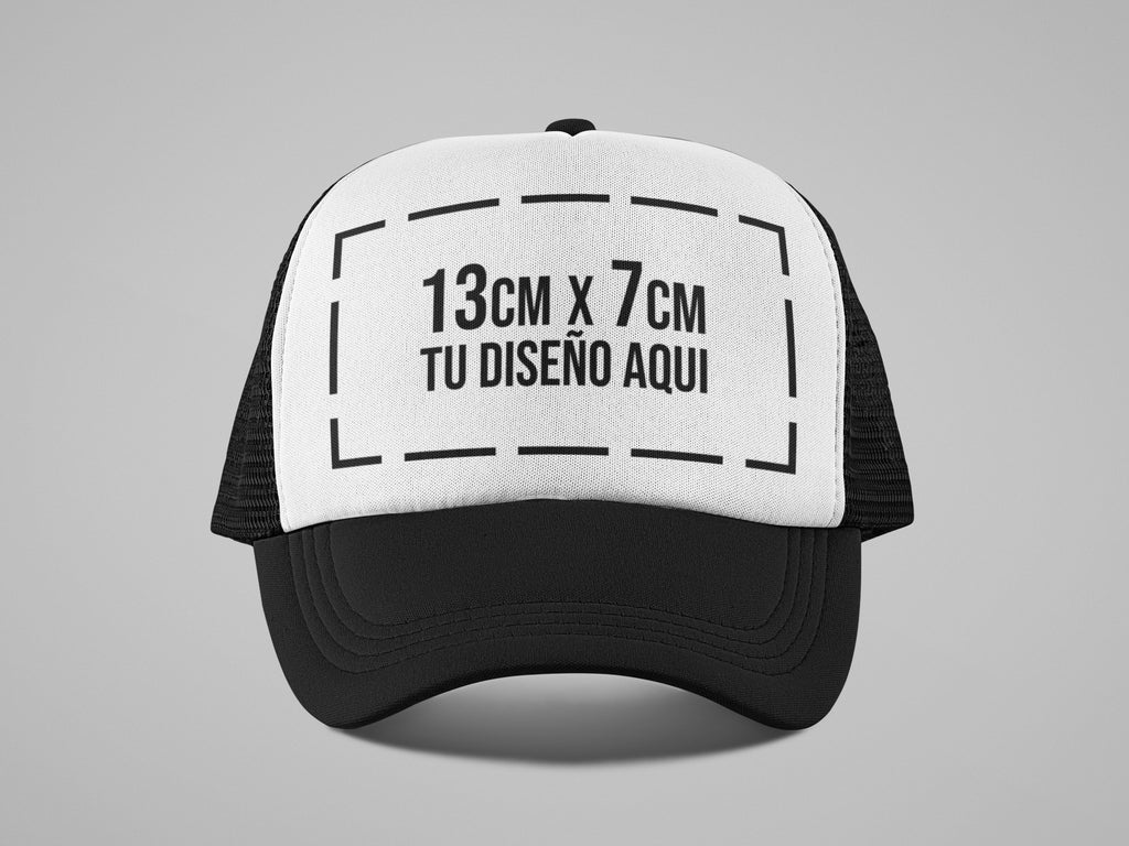 Gorra Camionera Adulto + Estampado Digital Full Color