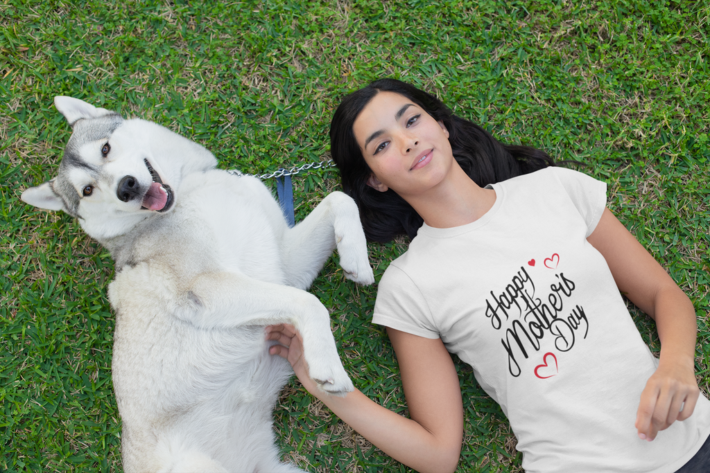 Camiseta Cuello Redondo Happy Mother`s Day Corazòn