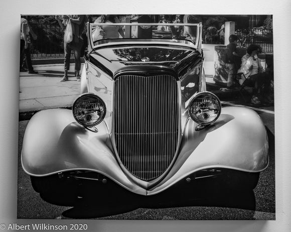 Enhanced Paper Gallery Wrap Black and White Car