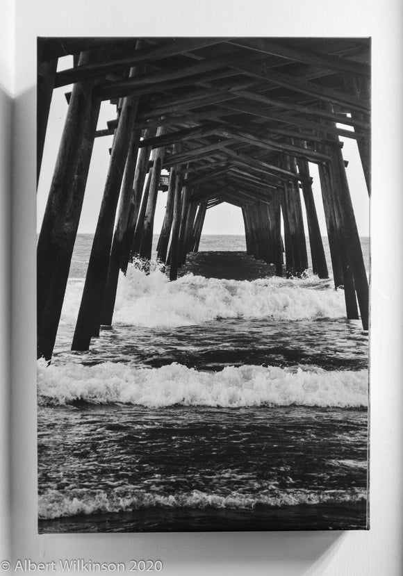 Enhanced Paper Gallery Wrap B&W, North Carolina Pier