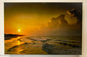 Enhanced Paper Gallery Wrap, North Carolina Sunrise