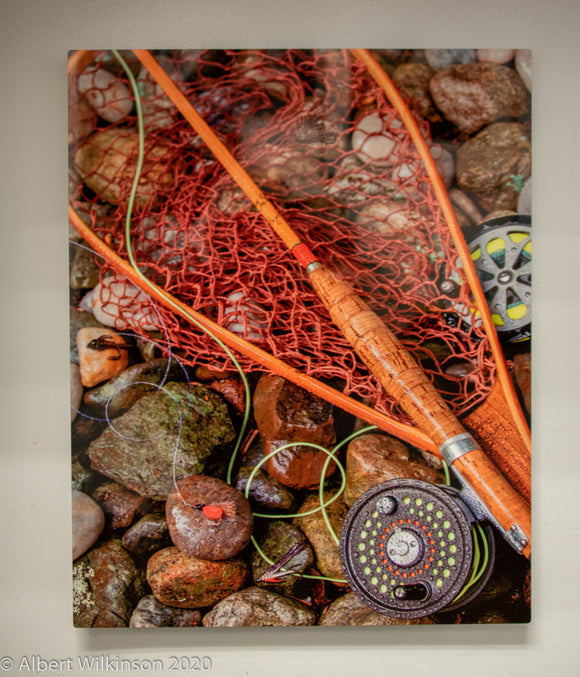 Metal Print, Fly Fishing