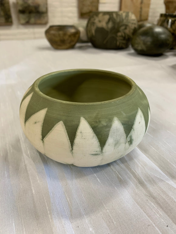 Ecoprint Vessel with Mountain Cottonwood