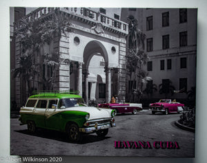 Enhanced Paper Gallery Wrap, Havana Hotel and Cars