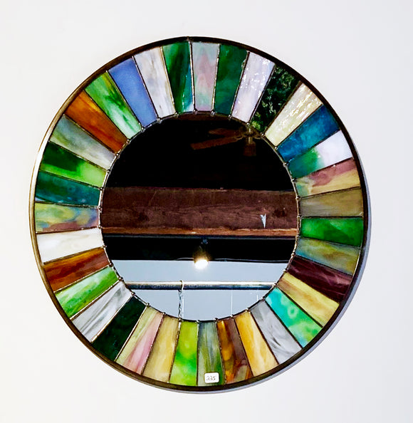 Stained Glass Medium Wagon Wheel Mirror