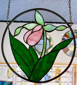 Stained Glass Ladyslipper