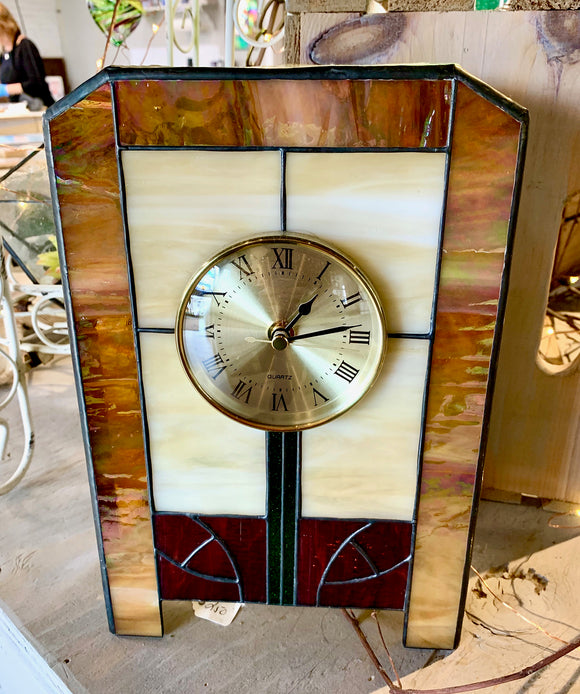 Stained Glass Custom Clock