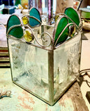 Stained Glass Floral Candle Holders