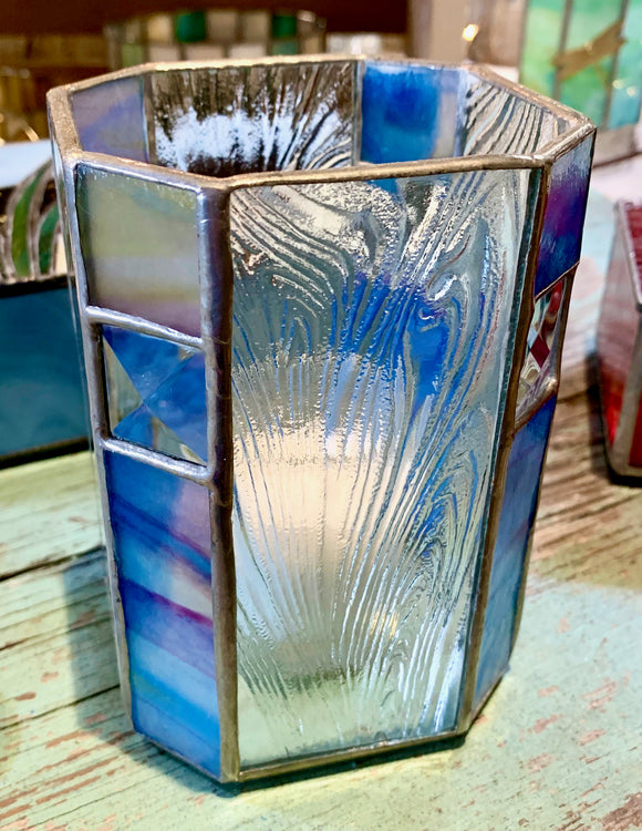 Stained Glass Candle Holder