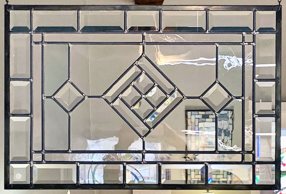 Stained Glass Clear Bevel Panel