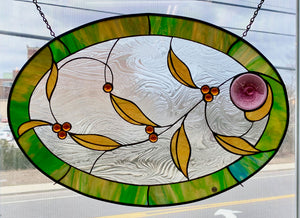 Oval Leaves and Berries Panel
