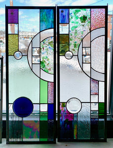 Stained Glass Geometric Panels
