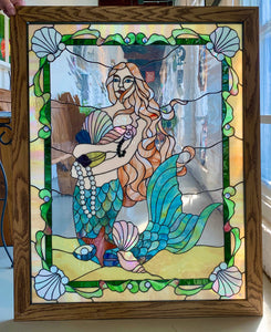 Mystical Stained Glass Mermaid