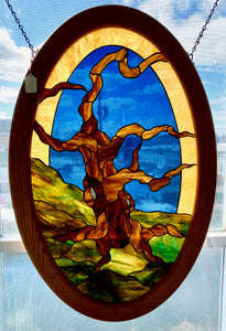 Oval Bristlecone Pine Tree Panel
