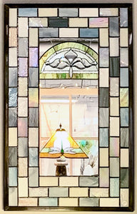 Rectangular Subway Tile Stained Glass Mirror