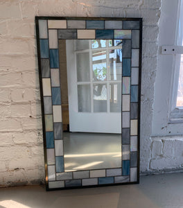 Large Rectangular Stained Glass Mirror