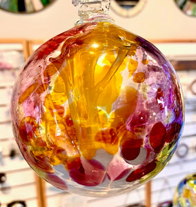 Kitras Glass, Reds and Yellows, 4""